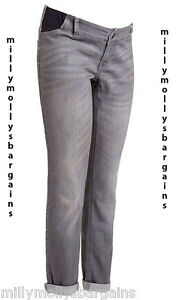 New Grey Relaxed Skinny NEXT Maternity Jeans Size 18 16 14 12 Long ...