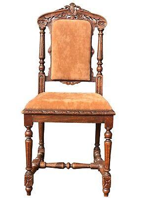 6 Stühle Eßzimmerstühle Gepolstert Gründerzeit Eiche Antik Top Die Kommode Reich An Poetischer Und Bildlicher Pracht