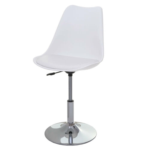 2x Drehstuhl Vaasa T501 Stuhl Lehnstuhl höhenverstellbar Kunstleder weiß