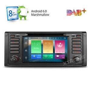 AUTORADIO-Android-6-0-BMW-E39-E53-X5-Navigatore-Gps-Comandi-Volante-Bluetooth-SD