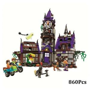 Scooby Doo Mystery Mansion Building Blocks Scoobydoo Kid Toy Gifts Blocks 860pcs