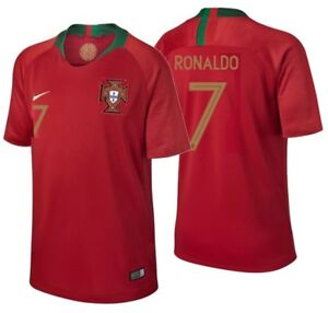 the best attitude 08d46 57d36 Details about NIKE CRISTIANO RONALDO PORTUGAL YOUTH HOME JERSEY WORLD CUP  2018.