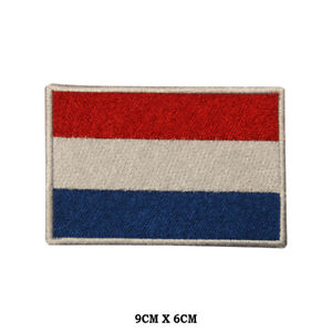 NETHERLANDS National Flag Embroidered Patch Iron on Sew On Badge For Clothes etc