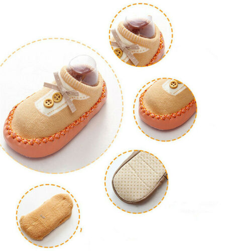 Winter Infant Slippers Step Shoes Indoor Cotton New Warm Crib Baby Prewalker LL