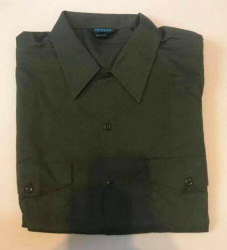 NWOT TOPPMASTER Permanent Press Twill Mens SHORT Sleeve Shirt Dark Green R53