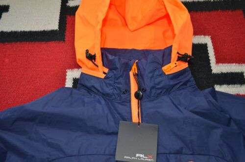 Ralph Lauren RLX Hooded Waterproof 100/% Nylon Windbreaker Nautical Jacket