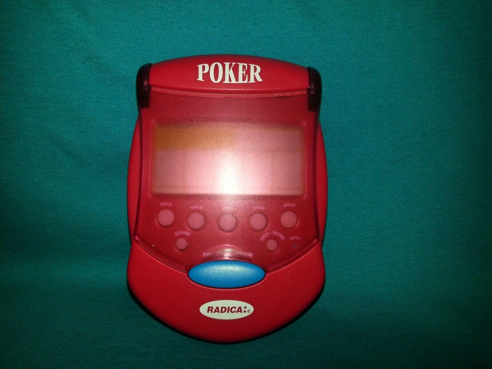 Radica Flip-Top Poker Electronic Handheld Travel card Game
