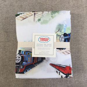 Pottery-barn-kids-Thomas-amp-Friends-The-Train-Sheet-Set-Twin