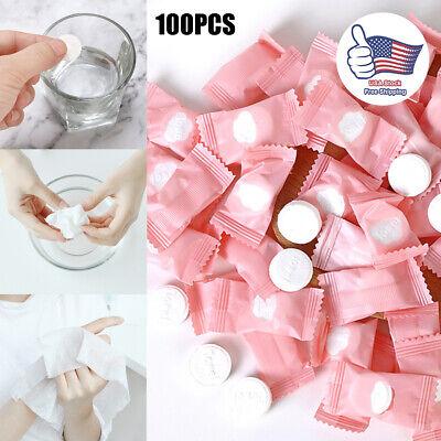 50Pcs Portable Disposable Magic Compressed Travel Creative Towel Facial Tissue