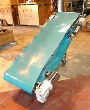 "22"" x 86"" Inclined Troughing Blue Belt Conveyor Sanitary"
