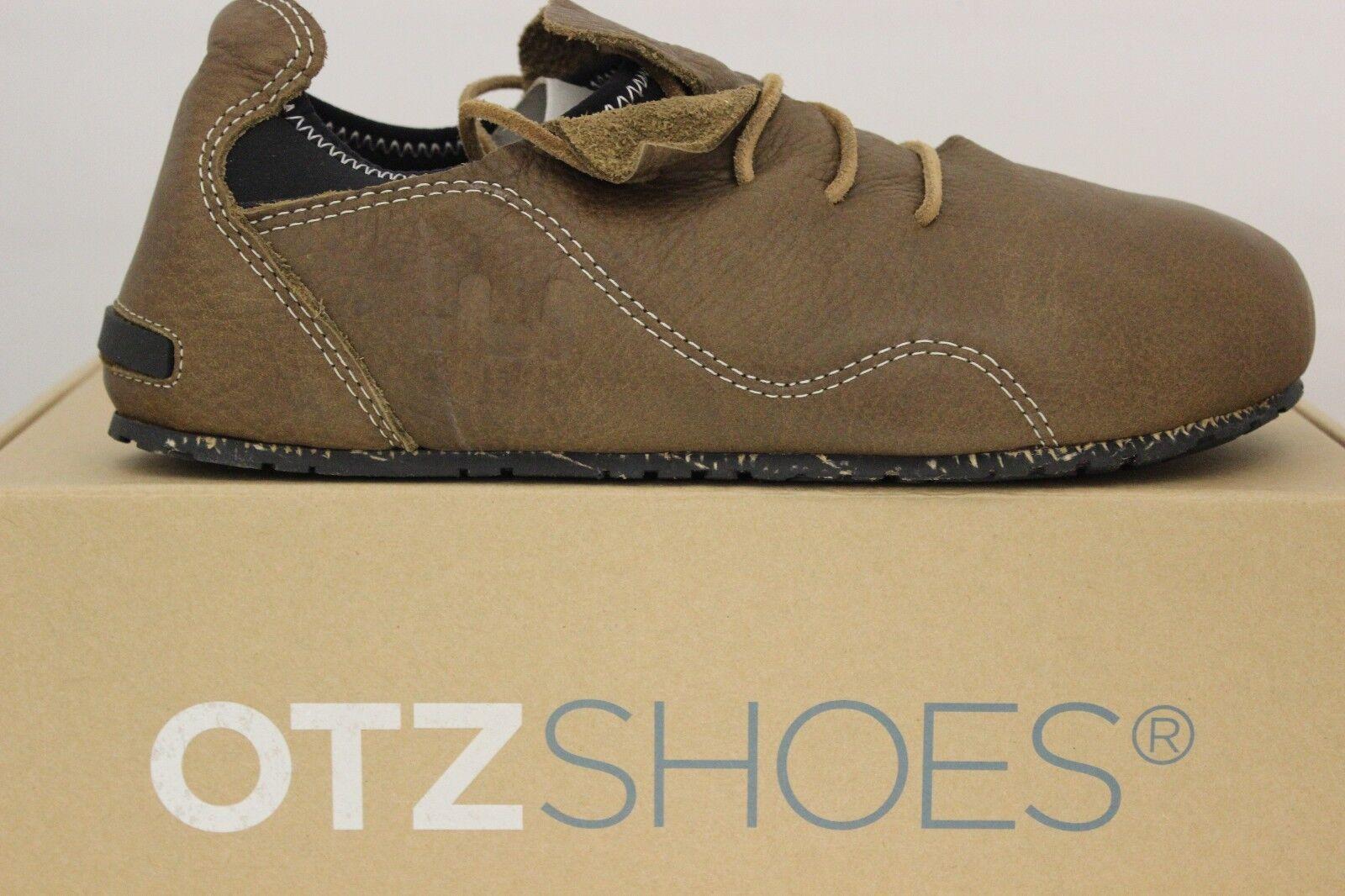 Hombre Otz Superslick Zapatos de Cuero Chocolate Negro 4101-Chobk Nuevo en Caja
