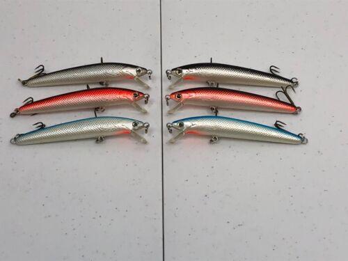 Lure Set N6A-Bass Fishing Plug-Shallow Depth Diver 6 New Crankbaits-Ships Free