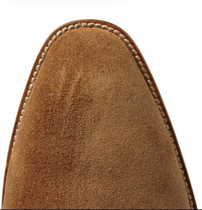 Gamuza Para Real hombre Punta Redonda Cuero Real Para Hebilla De Tobillo Botas Zapatos Taco de Bloque R253 De Caballero 6b651e