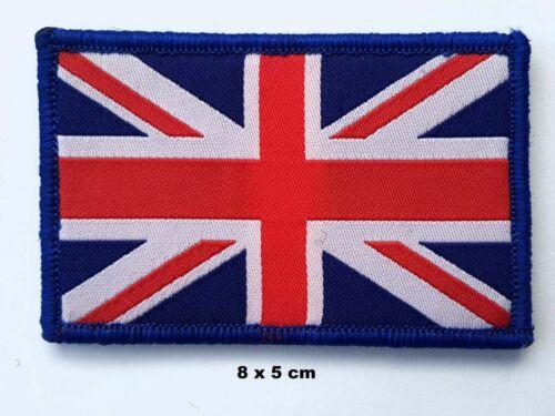 GB UNION JACK PATCH velcro backed British army cap UJ flag badge Red white blue