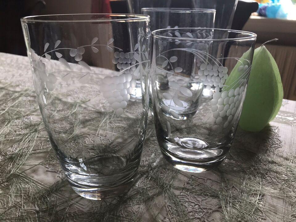 Glas, 5 stk Øl/vand glas , Pris er for alle