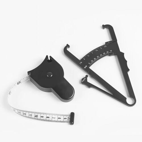 Body Fat Caliper/&Mass Measuring Tape Tester Skinfold Fitness Weight Loss