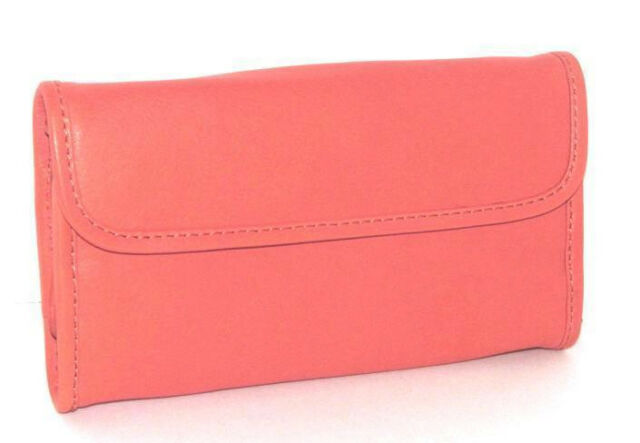 Mili Designs NYC Seychelles Coral Leather Jewelry Roll-Clutch New In Tag Pkg