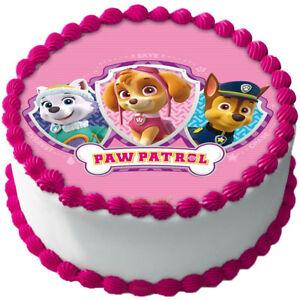 Paw Patrol Skye Chase Everest Essbar Tortenaufleger Party Deko Dvd