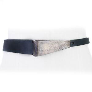 Scott-Wilson-x-Peter-Pilotto-Green-Leather-Sculpted-Buckle-Waist-Belt-XS-UK6