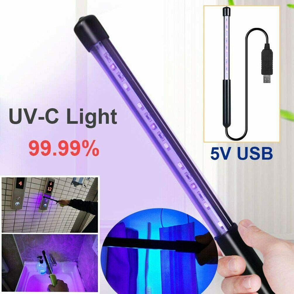 A Rechargeable Akabsh Handheld UV Light Mini Sanitizer Travel Wand UV Light for Hotel Household Wardrobe Toilet Car Pet Area Germicidal Lamp Portable Sterilizer