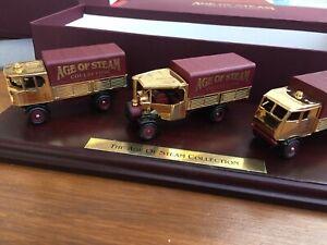 Lledo GOS1006 età di vapore Collection 22 Carati Placcato Oro Set Sentinel & FODEN