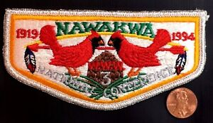 NAWAKWA-LODGE-3-OA-ROBERT-E-LEE-COUNCIL-PATCH-1919-1994-NOAC-FLAP-SMY-DELEGATE