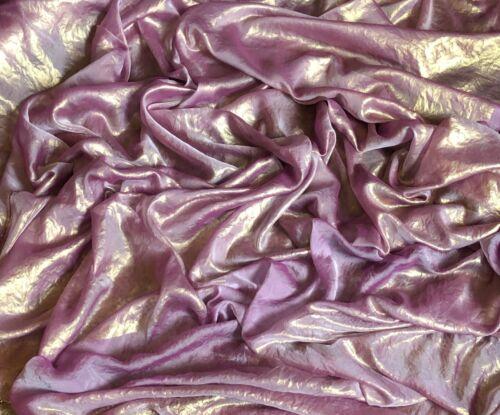 "1 x Meter dusty pink//gold selfprint shimmer chiffon fabric light weight 58/"""