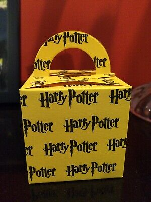 Hogwarts House Names 12 Piece Treat Favor Box Harry Potter Party bags cardstock