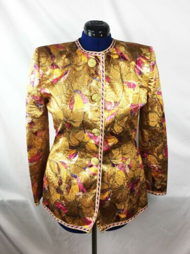 Vintage Victor Costa Art Jacket Womens Size 10 Eve