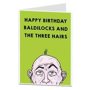 Funny Rude Birthday Card For Men Bald Joke Perfect For Dad Ebay