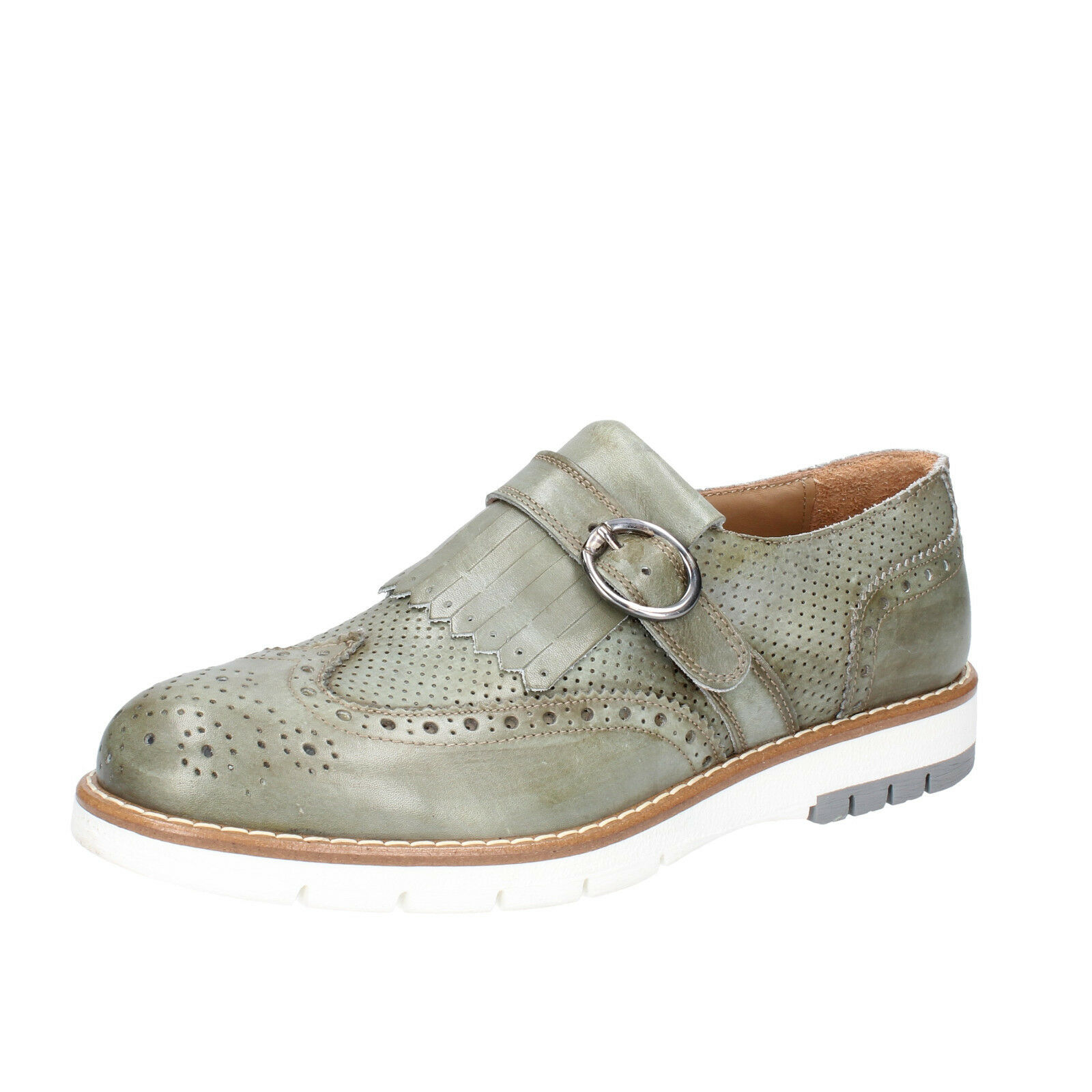 Men's shoes DI MELLA 12 () elegant green leather BZ30-G