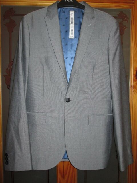 Next signature boys smart grey jacket age 5 brand new with tags height 110 cms