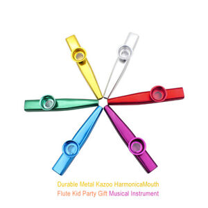 Durable-and-Metal-Kazoo-Harmonica-Mouth-Flute-Kid-Party-Gift-Musical-Instrumen
