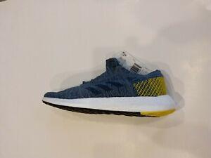 5088d1a1f Adidas Pureboost Go  AH2322  Men Running Shoes Blue Navy Navy-Volt ...