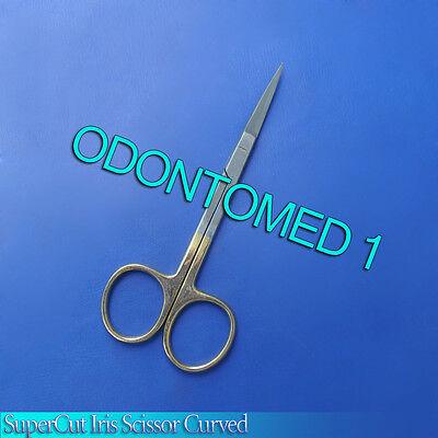 "SuperCut Iris Scissor Curved 4.5"" Surgical Instruments"
