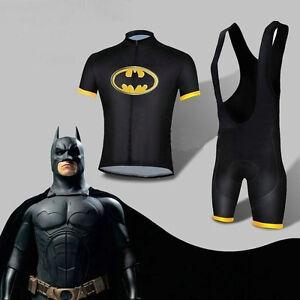 2017-Hot-Batman-Costume-Cycling-Kits-Bicycle-Suits-Short-Jersey-Bib-Short-S-XXL
