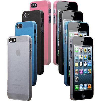 Transparent TPU Silicone Gel Cover Case Skin Crystal Soft for iPhone 5 5s