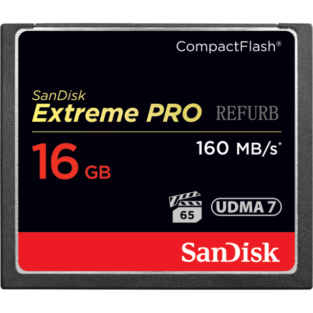 SanDisk CF 16GB Card 160MB/S Extreme Pro CompactFlash SDCFXP-016G For CANON DSLR