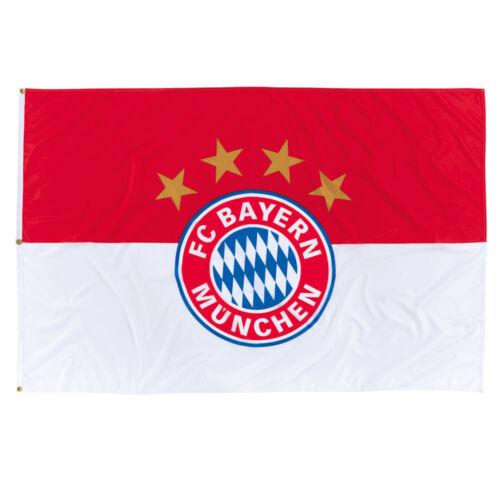 FCB Fanartikel 20465 neu FC Bayern München Hissfahne Logo 180 x 120 cm Flagge