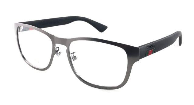 87c934a562d GUCCI GG0175O GG 0175O 001 BLACK RUTHENIUM eyeglasses frame eyewear  54-17-145