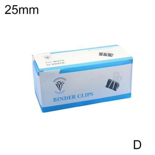 12Pcs Bulldog Foldback Letter Clips Paper Binder Grip Filing Binding