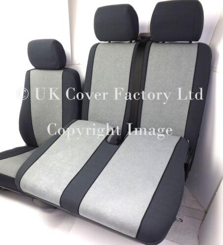 Ford transit custom van housses de siège gris velours sur mesure P30GY