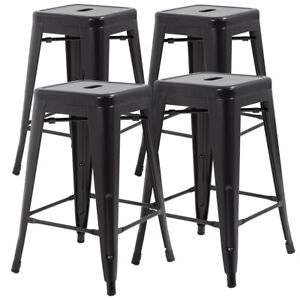 Tremendous Details About New Metal Chair Height Bar Stools 24 Inches Indoor Outdoor Stool Patio Furniture Dailytribune Chair Design For Home Dailytribuneorg