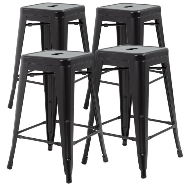 Metal Chair Height Bar Stools 24 Inches