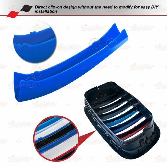 M-Performance 8 BARS Kidney Grille 3 Color Cover Clips for