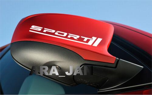Sport Vinyl Decal racing sticker car logo mirror motorsport performance PAIR