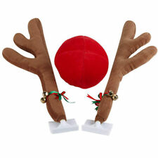 Easy Installation Reindeer Car Christmas Costume - Antlers, Red Nose