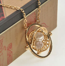 Harry Potter Hermione Granger's Time Turner Necklace Rotating Hourglass Pendent