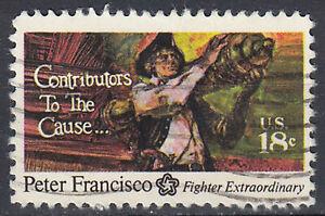 USA-Briefmarke-gestempelt-18c-Peter-Francisco-Fighter-Extraordinary-2340