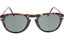 NWT Persol Sunglasses PO 714 24/31 Folding Havana Brown / Grey Green 54 mm NIB